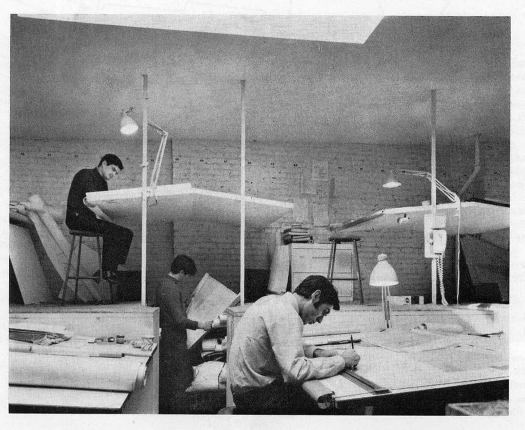 Drawing architect vintage
